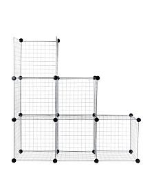 Trademark Global Everyday Home Modular Mesh Storage Cube - 6 Pack