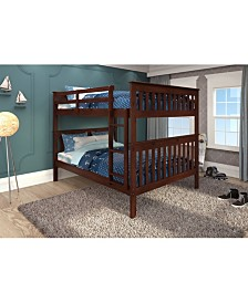 Full Over Full Mission Bunk Bed