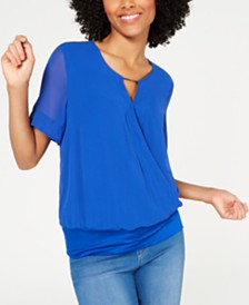 Thalia Sodi Draped Keyhole Top, Created for Macy's