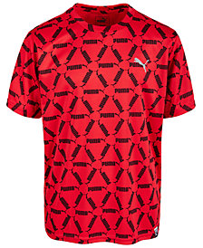 Puma Big Boys Performance Printed T-Shirt
