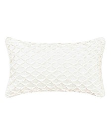 Laura Ashley Lorene Gathered Ivory Breakfast Pillow