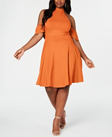 Rebdolls Drop Sleeve Skater Dress By The Workshop at Macy's, Regular & Plus Sizes