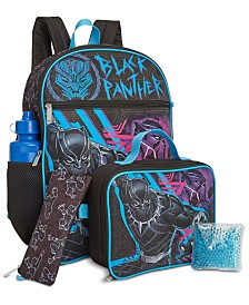 Bioworld Little & Big Boys 5-Pc. Black Panther Backpack & Lunch Kit Set