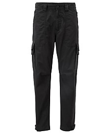 BOSS Men's Sargo Tapered-Fit Cotton Cargo Trousers