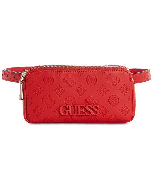 GUESS Skye Double Zip Belt Bag