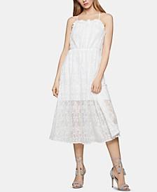 Floral-Lace A-Line Dress
