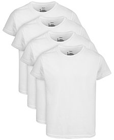 Hanes Little & Big Boys 4-Pk. Crew-Neck Tagless T-Shirts
