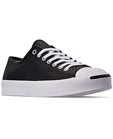 Men's Jack Purcell Tumbled Leather Casual Sneakers from Finish Line