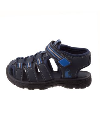 Rugged Bear Boys Sport Sandals Black//Blue 11 Toddler