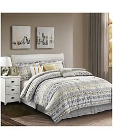 Chloe Yellow 7-Piece Comforter Set - Full