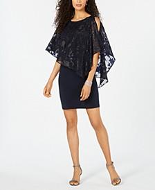 Petite Asymmetrical Overlay Sheath Dress