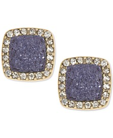 lonna & lilly Pavé & Druzy Stone Square Stud Earrings