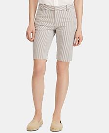 Lauren Ralph Lauren Petite Seersucker Shorts