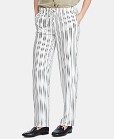 Lauren Ralph Lauren Petite Lightweight Striped Straight Pants