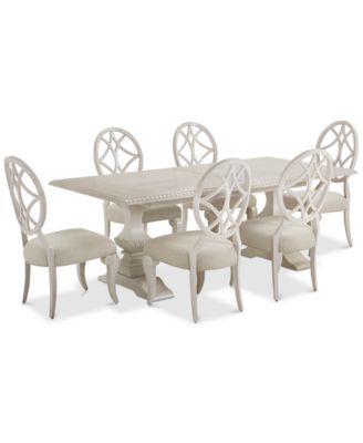 Jasper County Dogwood Rectangular Dining Furniture, 7-Pc. Set (Table & 6 Side Chairs)