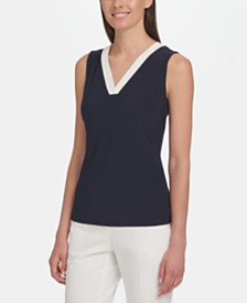 Tommy Hilfiger Sleeveless V-Neck Top