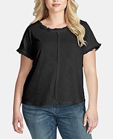 Trendy Plus Size Isabella Frayed T-Shirt