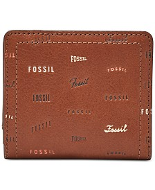 Fossil Logan RFID Logo Leather Bifold Wallet