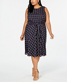 Plus Size Sleeveless Tie-Front Dress