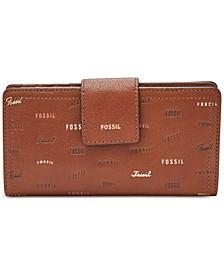 Logan RFID Logo Tab Logo Leather Wallet