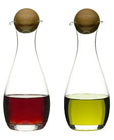 Sagaform Oil and Vinegar Bottles with Oak Stoppers