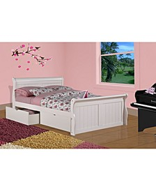 Full Sleigh Bed with Dual Underbed Drawers