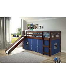 Twin Mission Tent Loft Bed with Slide