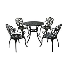 Vigo Outdoor 5pc Dining Set, Quick Ship