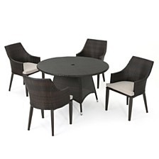 Hillhurst Outdoor 5-Pc. Dining Set, Quick Ship