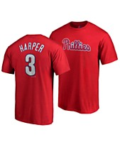 low priced e36ca 9ac5a Majestic Men s Bryce Harper Philadelphia Phillies Official Player T-Shirt