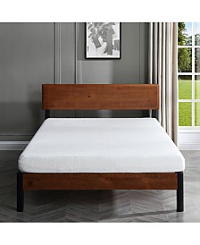 "Sleep Trends Ladan  6"" Cool Gel Memory Foam Firm Mattress- Queen, Quick Ship, Mattress in a Box"