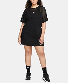 Nike Plus Size Sportswear Cotton Mesh Dress