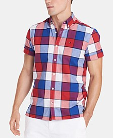 Men's Custom Fit Plaid Shirt, Created for Macy's