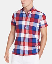 f5c195d7b Tommy Hilfiger Men's Big and Tall Plaid Shirt, Created for Macy's