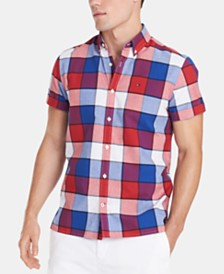 Tommy Hilfiger Men's Big and Tall Plaid Shirt, Created for Macy's
