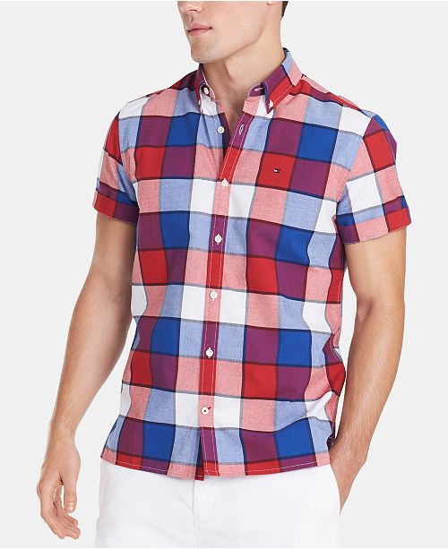 Tommy Hilfiger Men's Plaid Shirt, Created for Macy's