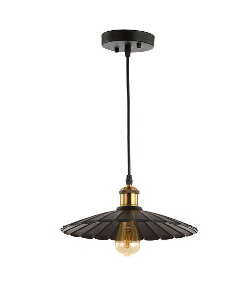 """JONATHAN Y Lotus 12.25"""" Adjustable LED Pendant"""