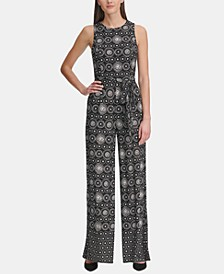 Printed Jersey Jumpsuit