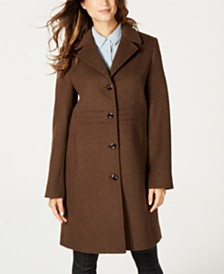 Jones New York Single-Breasted Notch-Collar Coat