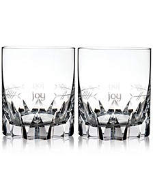 Waterford Ogham Joy Double Old-Fashioned Glasses, Set of 2
