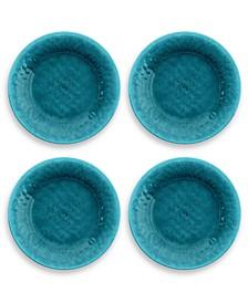 Potters Teal Reactive Glaze Salad Plate, Set of 4