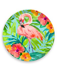 Tropical Vibes Flamingo Round Platter