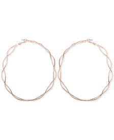 GUESS Basket Weave Hoop Earrings