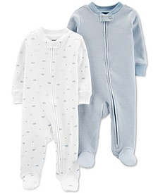 Baby Boys 2-Pc. Cotton Coveralls