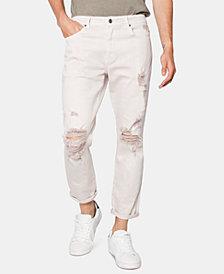 Zeegeewhy Men's Ripped Denim Cruiser Jeans