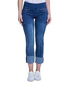 Seven7 Tummy Toner High Cuff Jeans