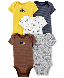 Baby Boys 5-Pc Graphic Cotton Bodysuits