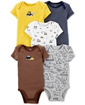 b5762e966 Carter s Baby Boys 5-Pc Graphic Cotton Bodysuits