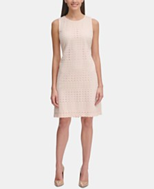 Tommy Hilfiger Allover-Lace A-Line Dress
