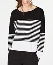 4d81c50ff5b Eileen Fisher Organic Cotton/Linen Striped Sweater